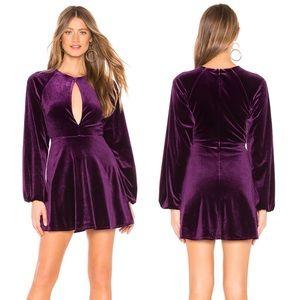 Lovers + Friends Nettie Purple Velvet Dress